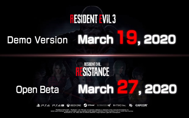 Resident Evil 3 Demo et Open Beta